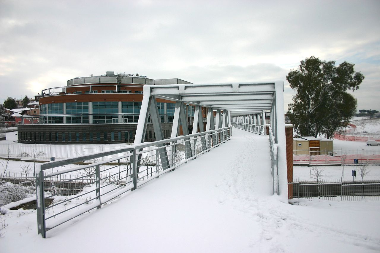 Campus Bio-Medico University, Rome, under the snow, february 2012